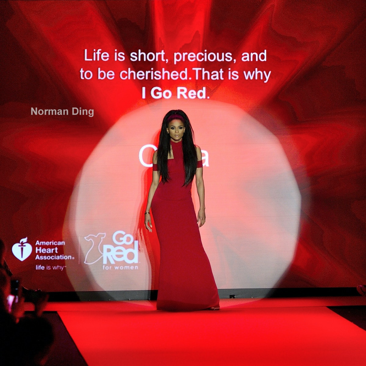 Go Red for Women fashion show at MBFW